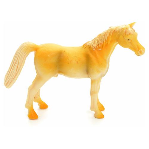 Cavallo beige 10 cm presepe 1