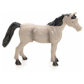 Cavallo grigio 10 cm presepe s1