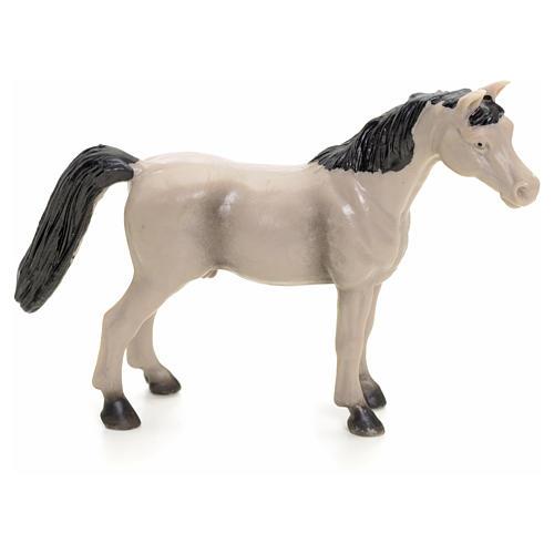 Cavallo grigio 10 cm presepe 1