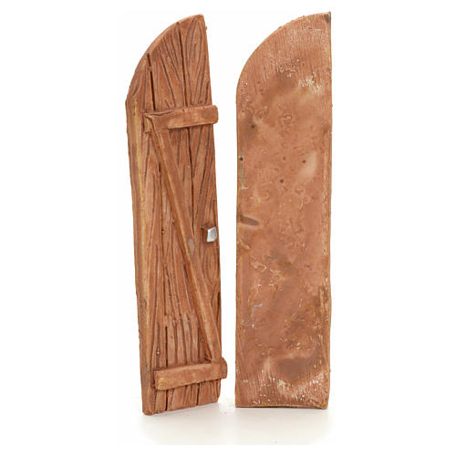 Nativity accessory, resin arched double door 2