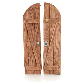 Nativity accessory, resin arched double door s1