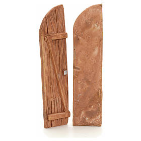 Nativity accessory, resin arched double door s2