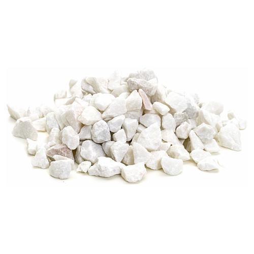 Gravier blanc grand pour crèche 300 gr 1