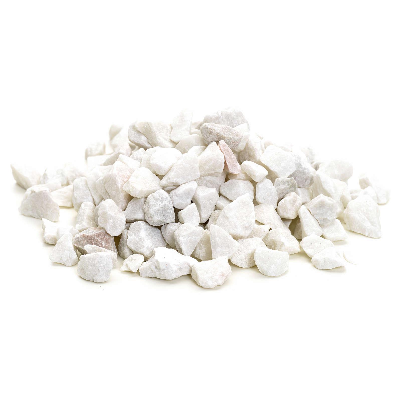 Ghiaia grande bianca 300 gr presepe fai da te 4