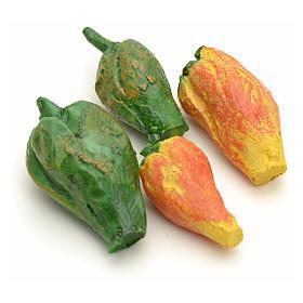 Comida em Miniatura para Presépio: Pimentos personalização presépio 4 peças