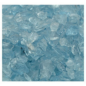 Grava pesebre vidrio azul 300 gr s2