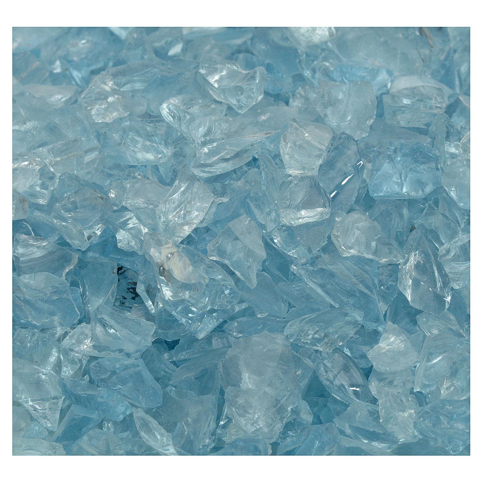 Ghiaia presepe vetro azzurro 300 gr 4