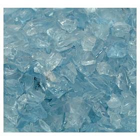 Żwir szklany błękitny kolor 300g do szopki s2