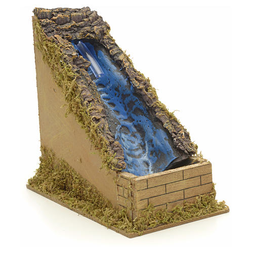 Nativity setting, waterfall with water pump 2