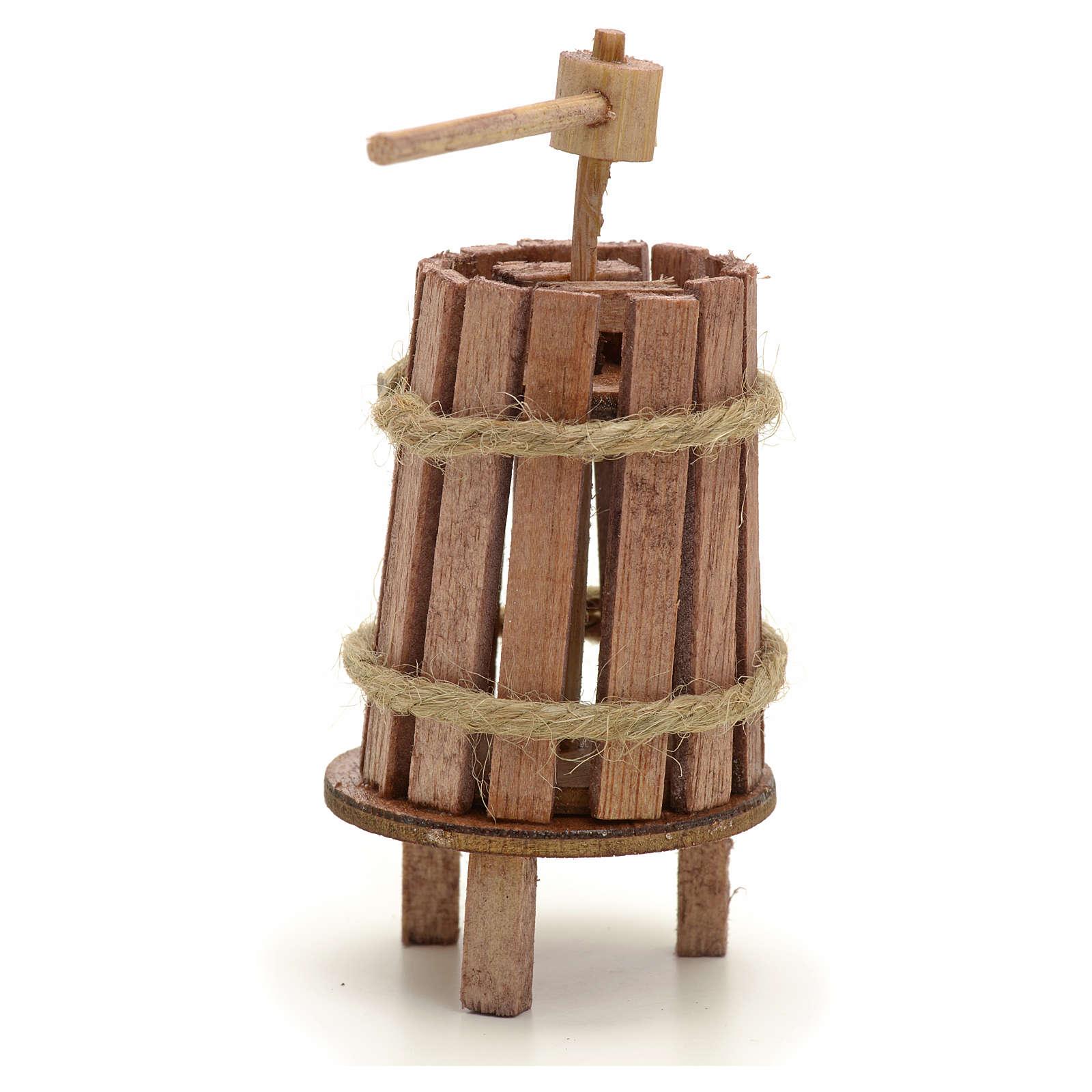 Torchio legno 4 cm presepi fai da te 4