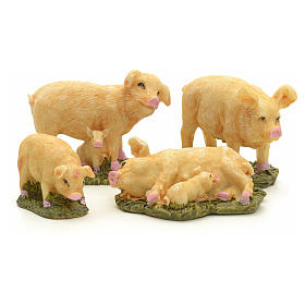 Nativity figurine, pigs 10 cm set of 4 pcs s1