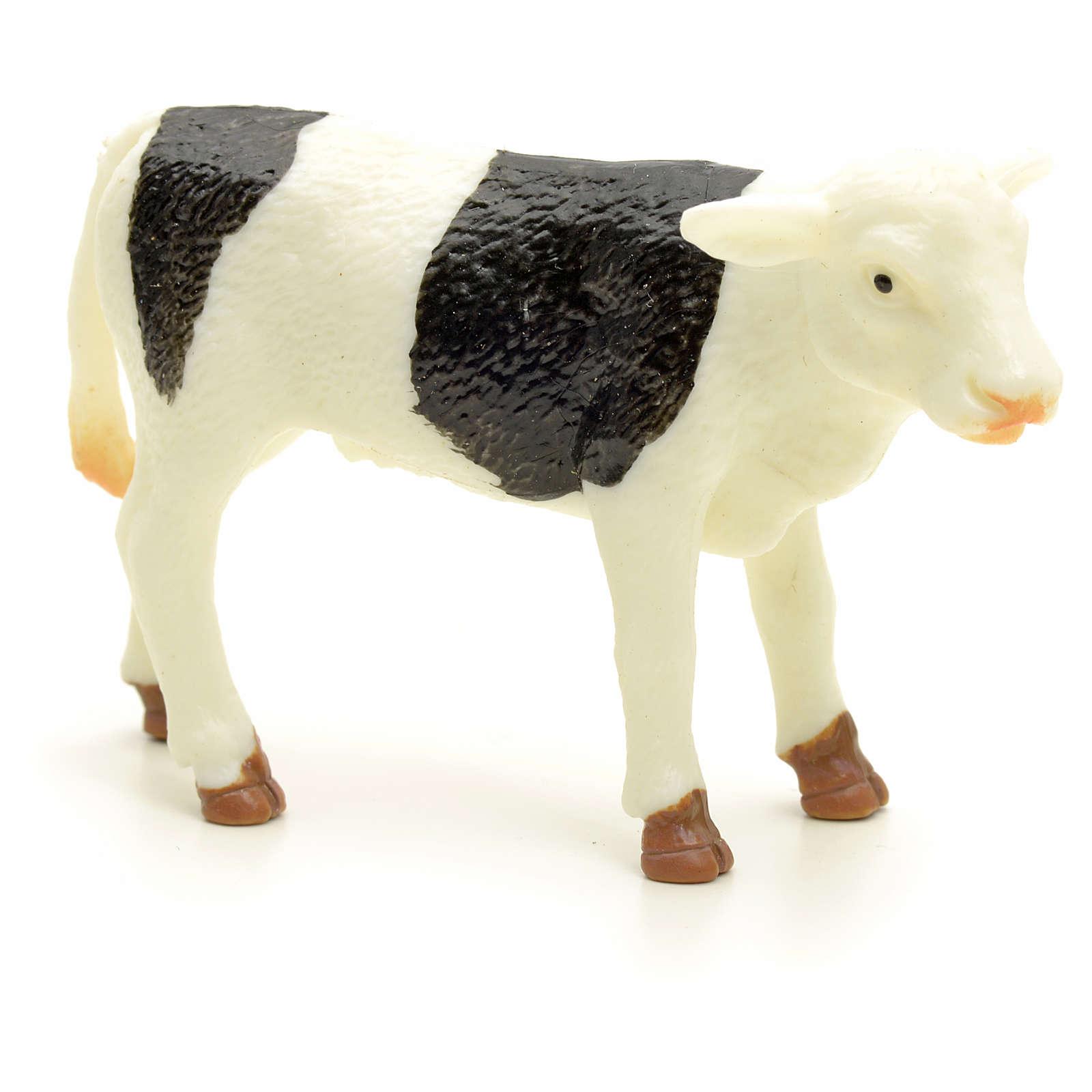 Byczek biały czarny 10 cm do szopki 3