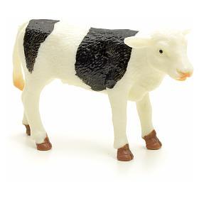 Byczek biały czarny 10 cm do szopki s1