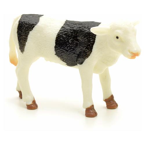 Byczek biały czarny 10 cm do szopki 1