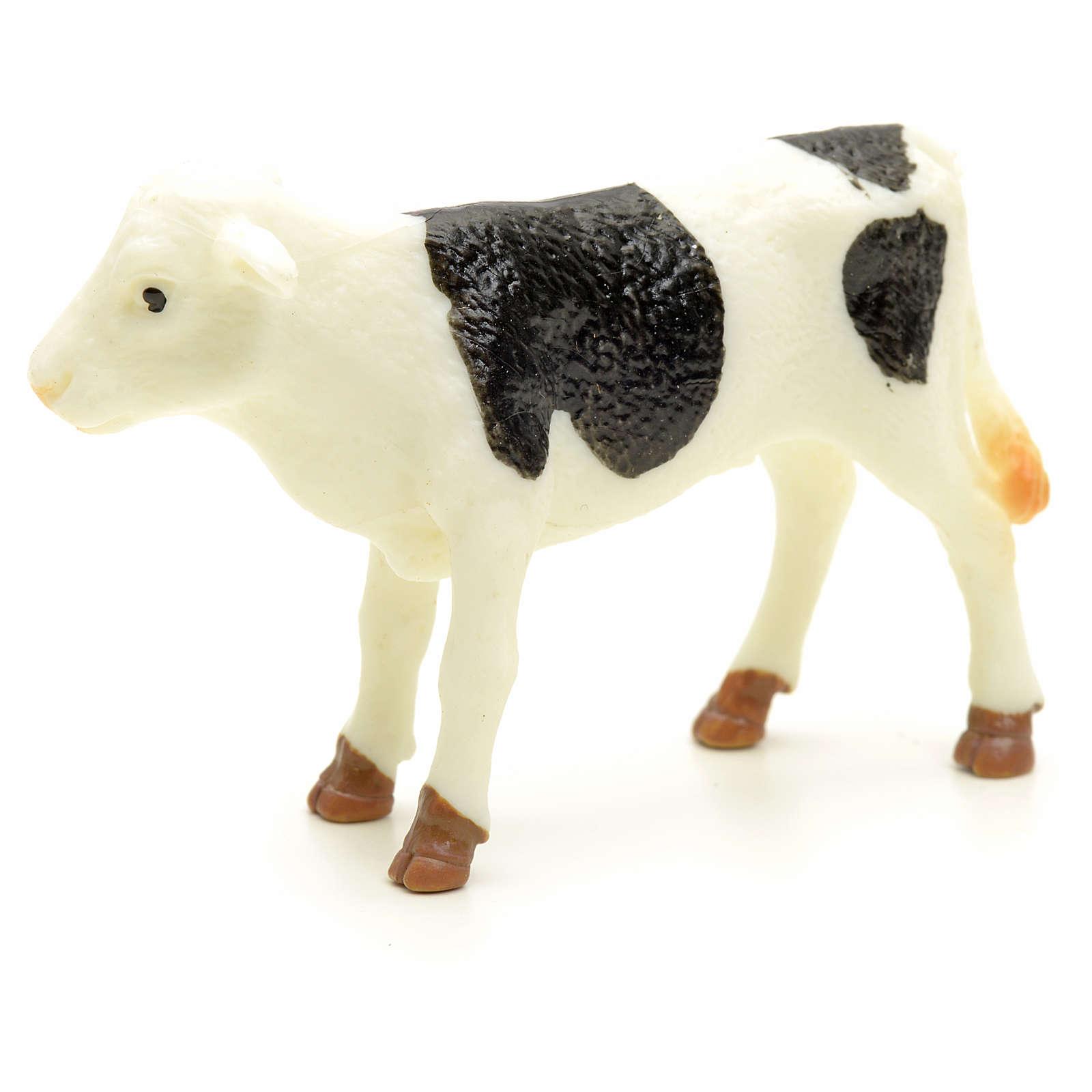 Nativity figurine, black and white calf 10 cm 3