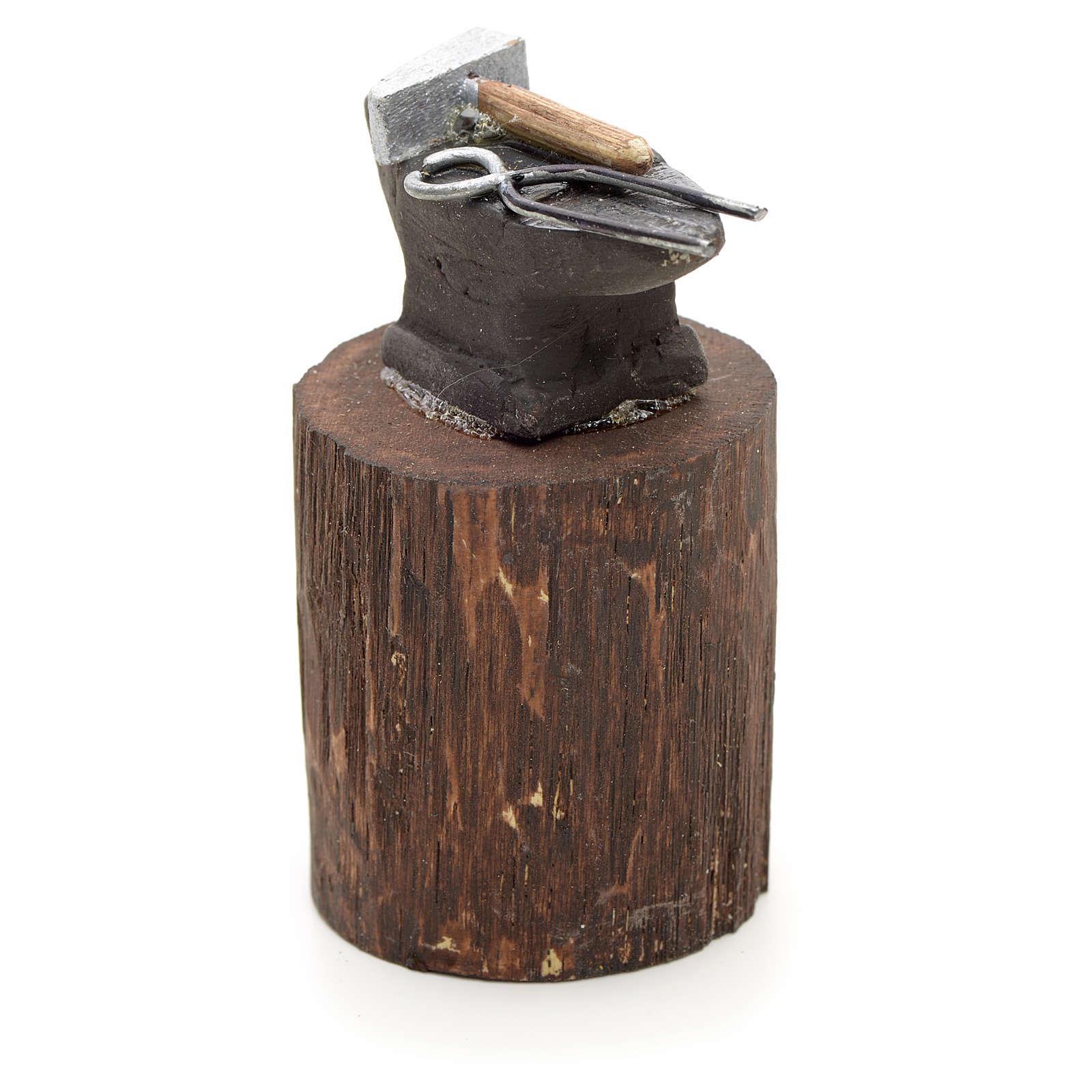 Enclume en miniature pour crèche Napolitaine 12 cm 4