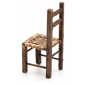 Chaise empaillée miniature crèche Napolitaine 12 c s2