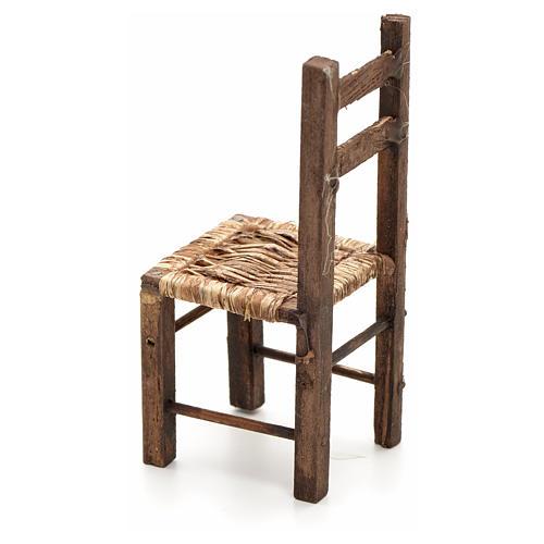 Chaise empaillée miniature crèche Napolitaine 12 c 2