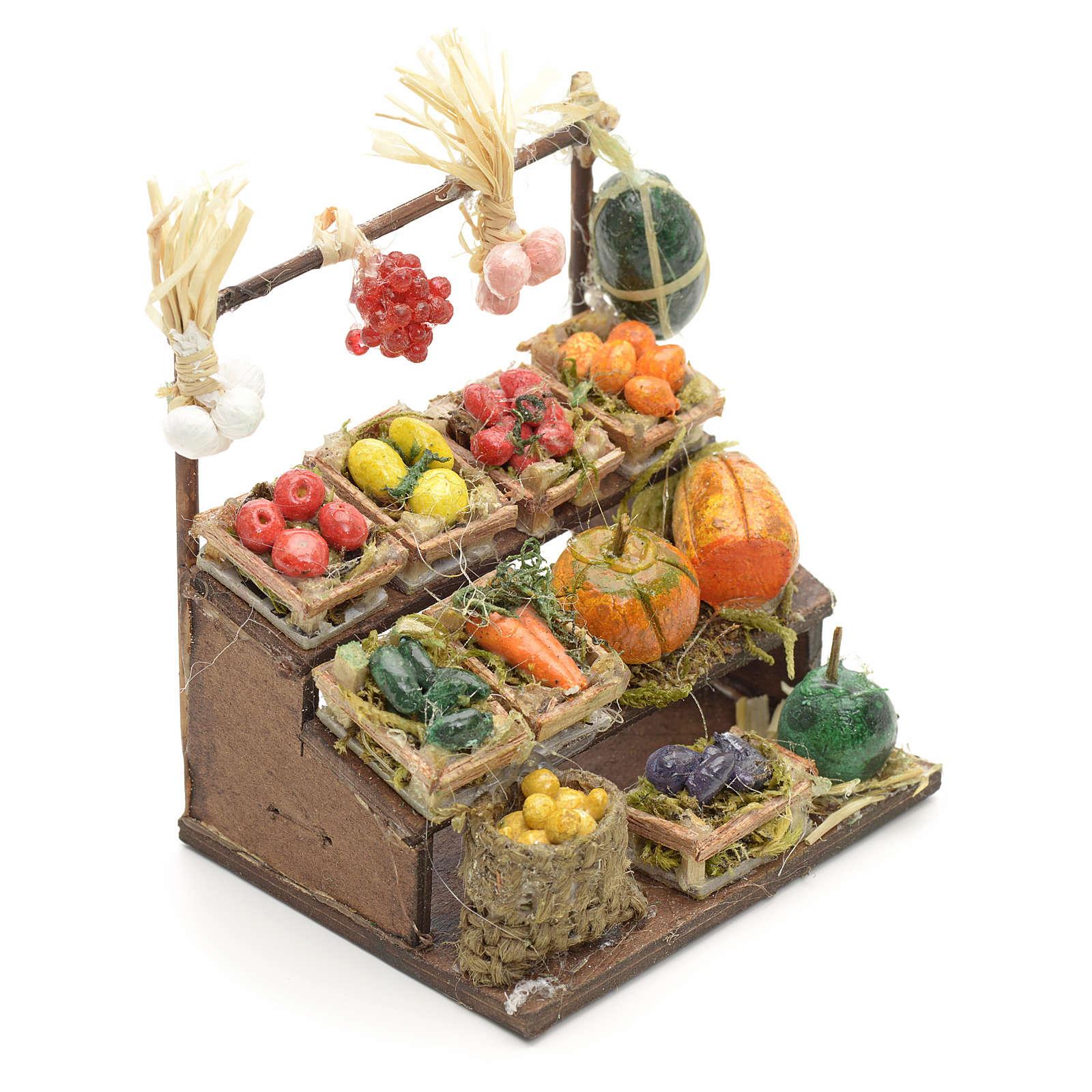 Banco frutta presepe napoletano cm 8 4