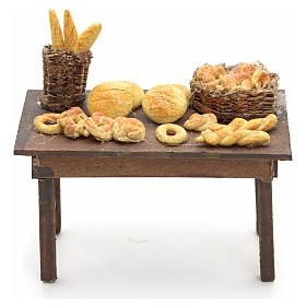 Tavolo cesto pane presepe napoletano cm 14 s1