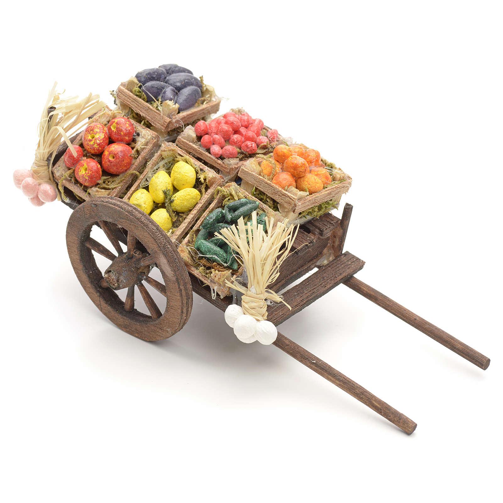 Neapolitan nativity accessory, fruit cart 8cm 4