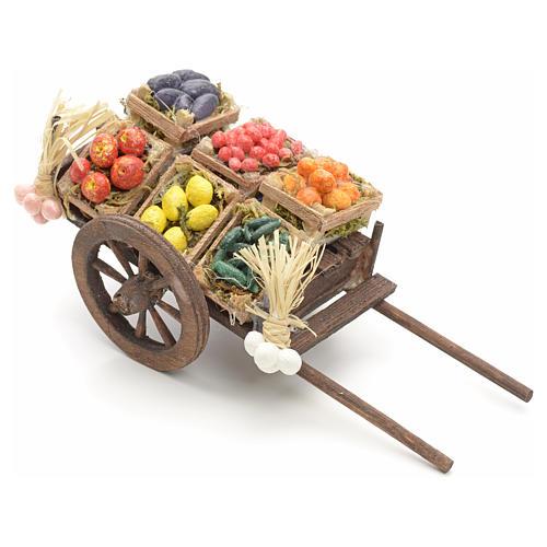 Neapolitan nativity accessory, fruit cart 8cm 1