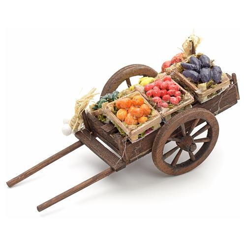 Neapolitan nativity accessory, fruit cart 8cm 2