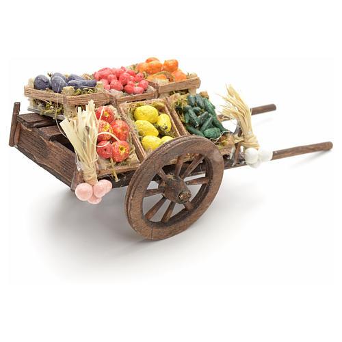 Neapolitan nativity accessory, fruit cart 8cm 3