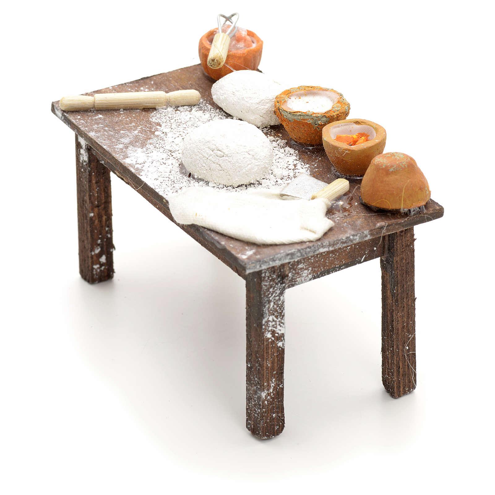 Mesa con masas pesebre napolitano cm 12 4