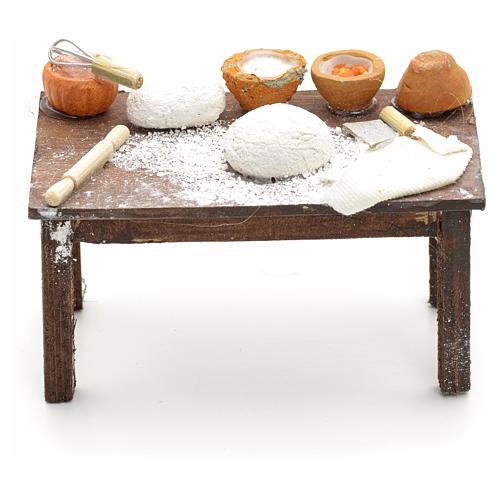 Mesa con masas pesebre napolitano cm 12 1