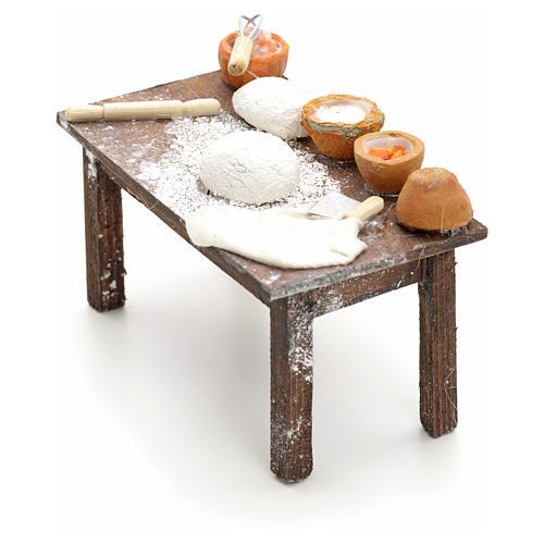 Mesa con masas pesebre napolitano cm 12 2