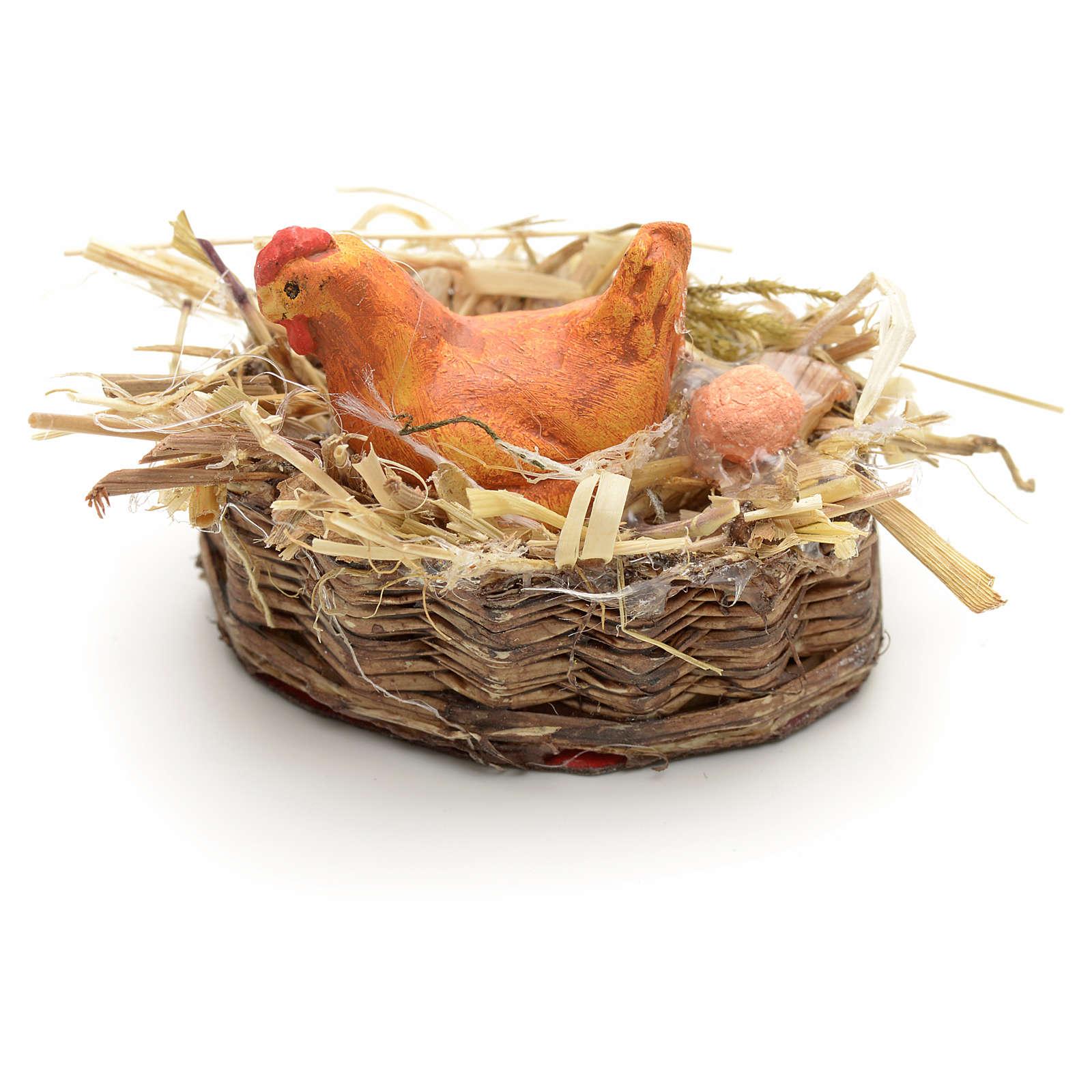 Panier en miniature avec poule 4