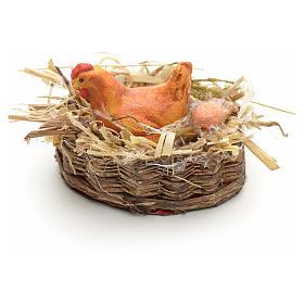 Panier en miniature avec poule s1