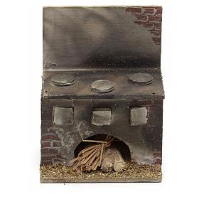 Cucina presepe napoletano legno 8x6,5x5 cm s1