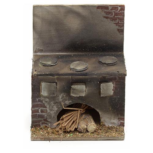 Cucina presepe napoletano legno 8x6,5x5 cm 1