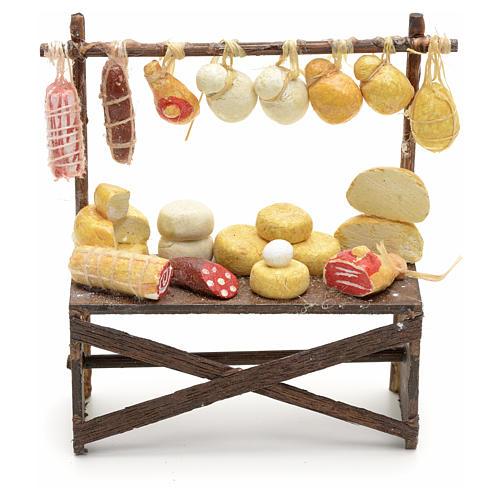 Banco salumi e formaggi presepe  9x8x3 cm 1