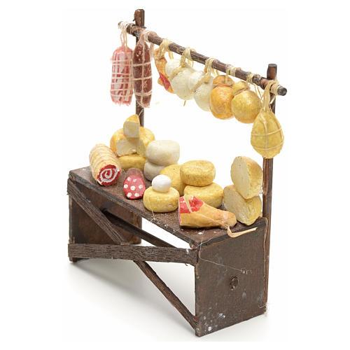 Banco salumi e formaggi presepe  9x8x3 cm 3