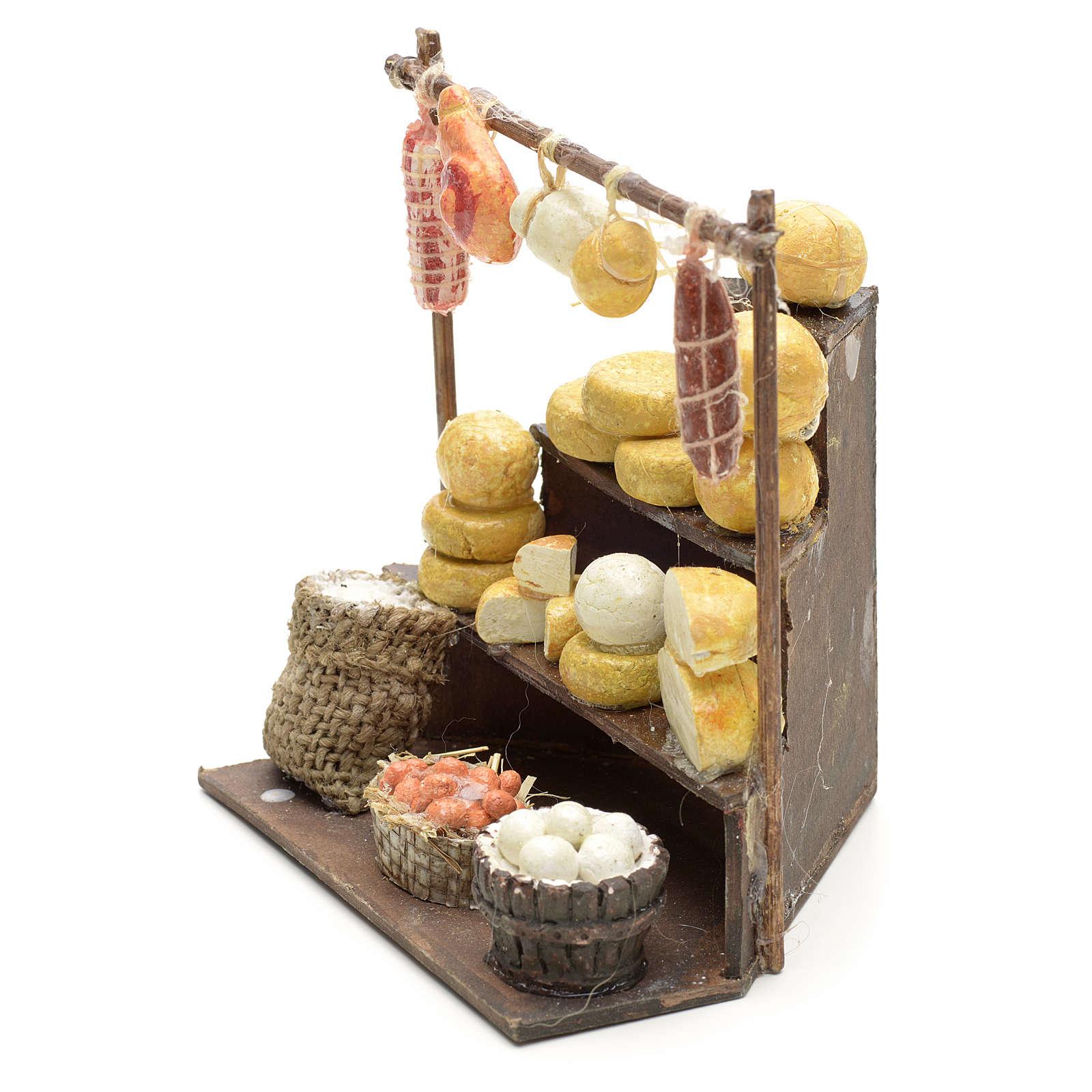Banc aux charcuteries et fromages en miniature 11x11x10 4