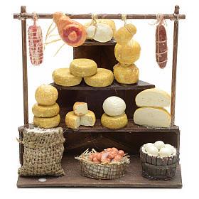 Banc aux charcuteries et fromages en miniature 11x11x10 s1