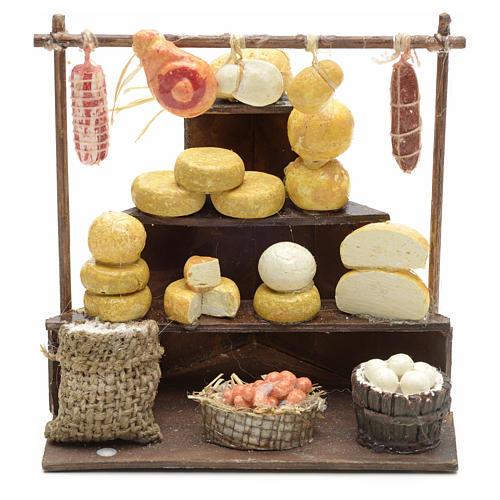 Banco salumi e formaggi presepe  11x11x10 cm 1