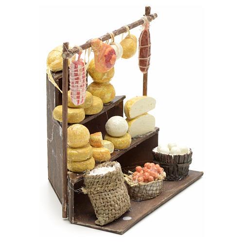 Banco salumi e formaggi presepe  11x11x10 cm 2