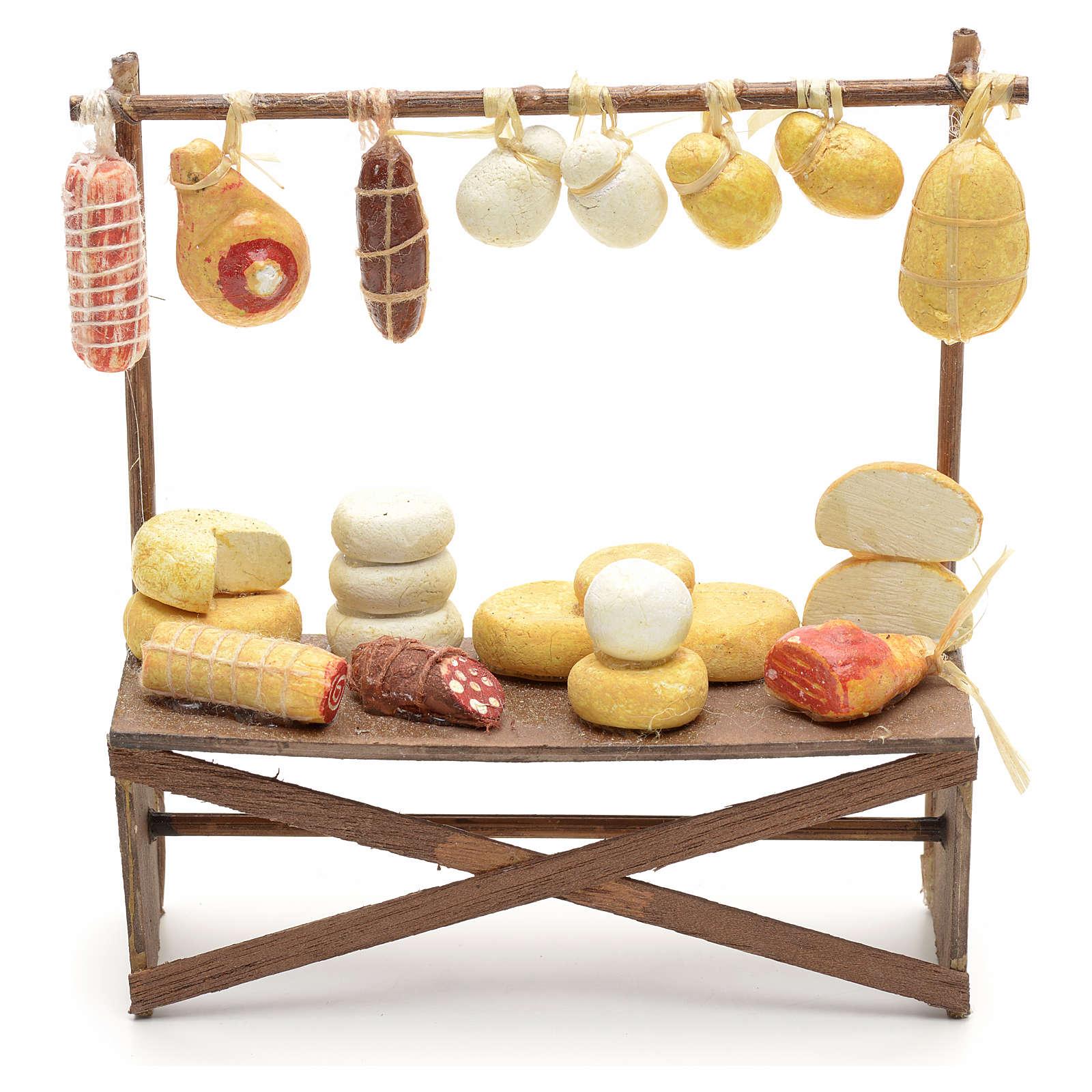 Banco salumi e formaggi presepe  12x11x4 cm 4