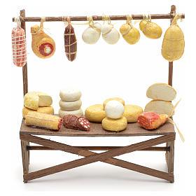 Banco salumi e formaggi presepe  12x11x4 cm s1