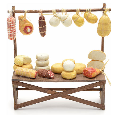 Banco salumi e formaggi presepe  12x11x4 cm 1
