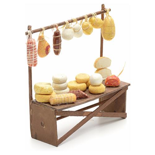 Banco salumi e formaggi presepe  12x11x4 cm 2