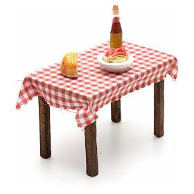 Tavolo imbandito 5,5x7x5 cm presepe napoletano s2