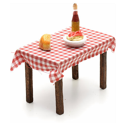Tavolo imbandito 5,5x7x5 cm presepe napoletano 2