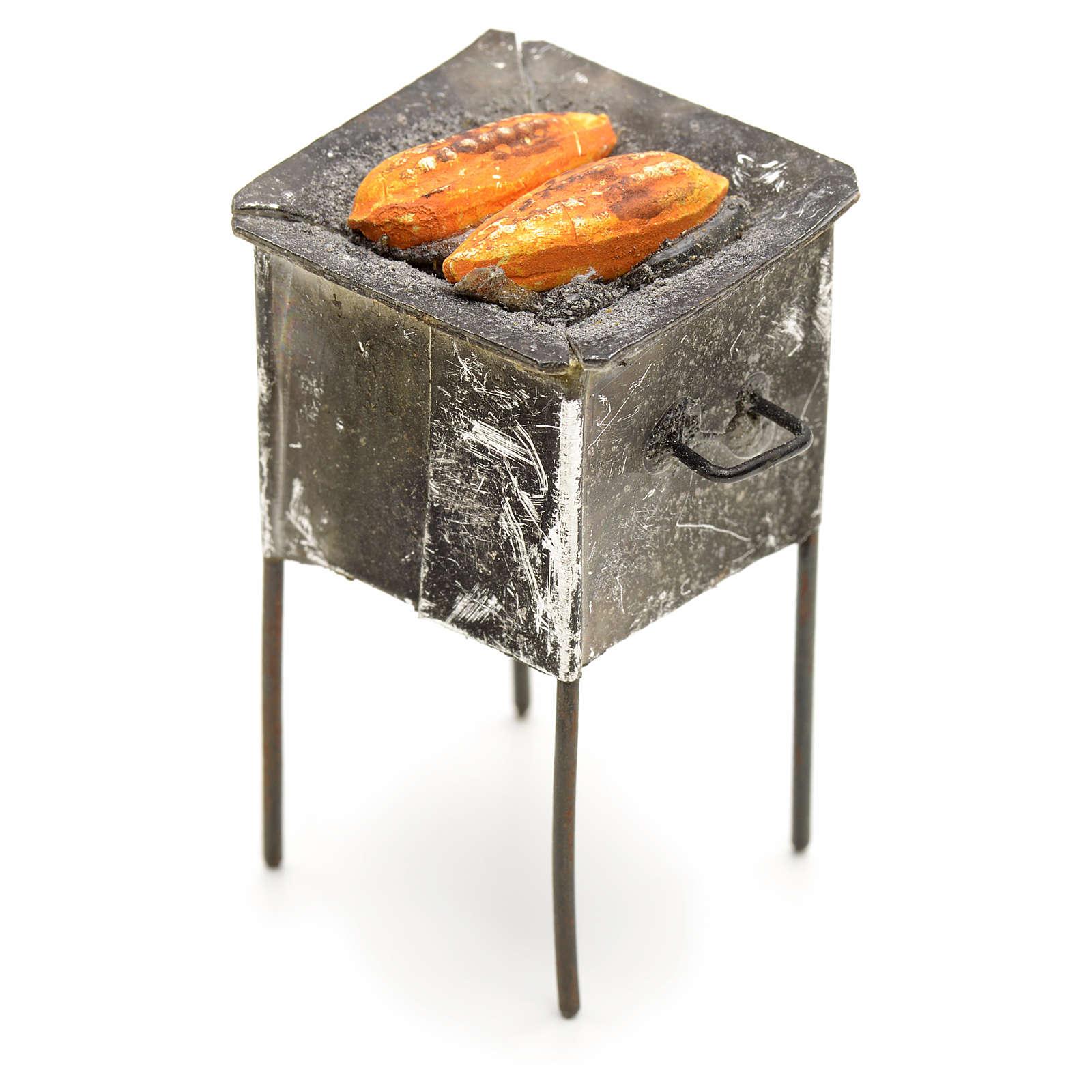 Grille en miniature avec épis de mais 4,5x2x2 4