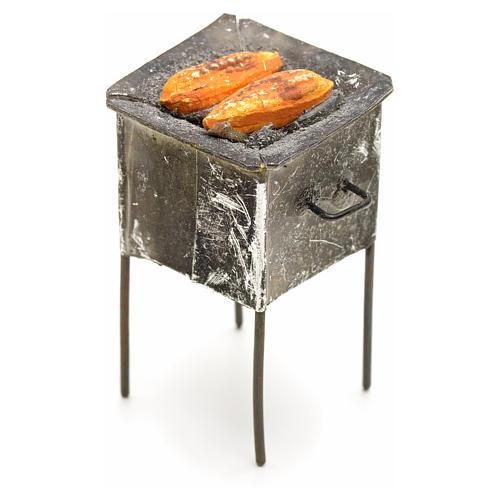 Grille en miniature avec épis de mais 4,5x2x2 1