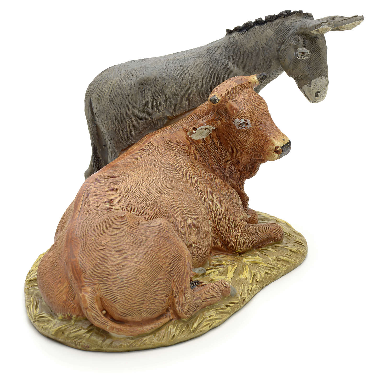 STOCK Ox and Donkey 12cm Landi Line in resin 3